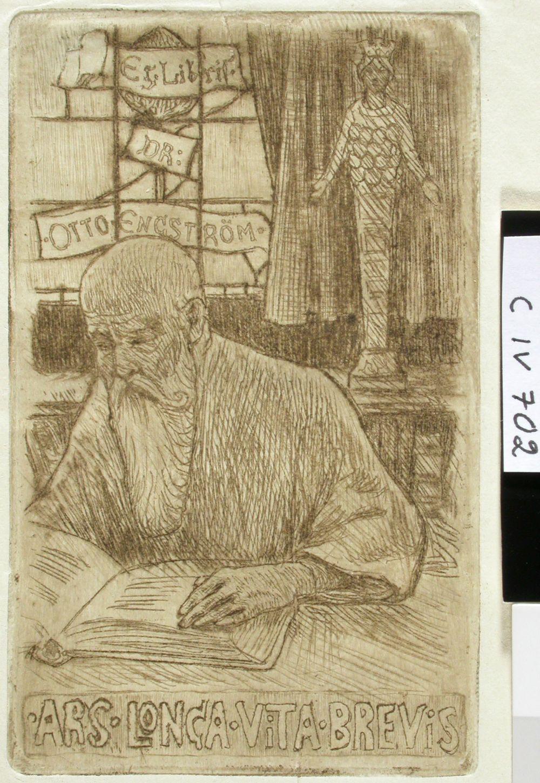 Tri Otto Engströmin exlibris I