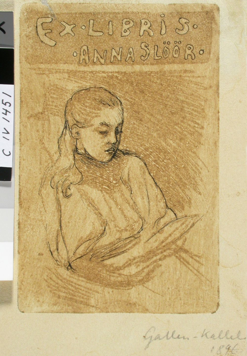 Anna Slöörin exlibris