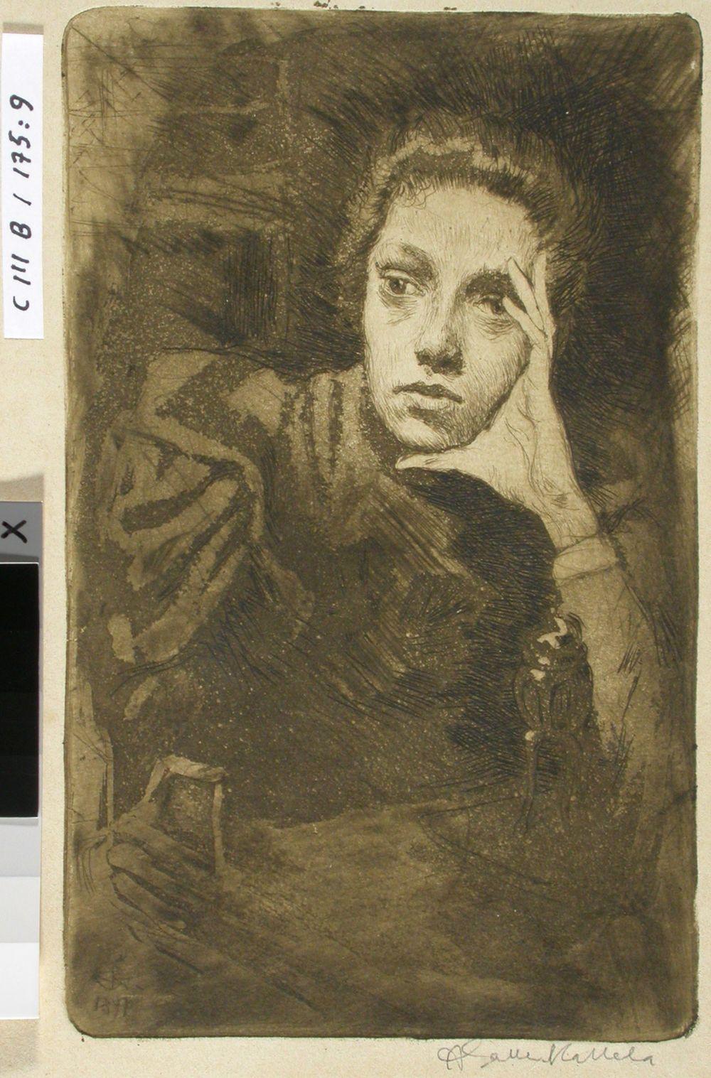 Taiteilijan sisaren, Viola Gallenin muotokuva