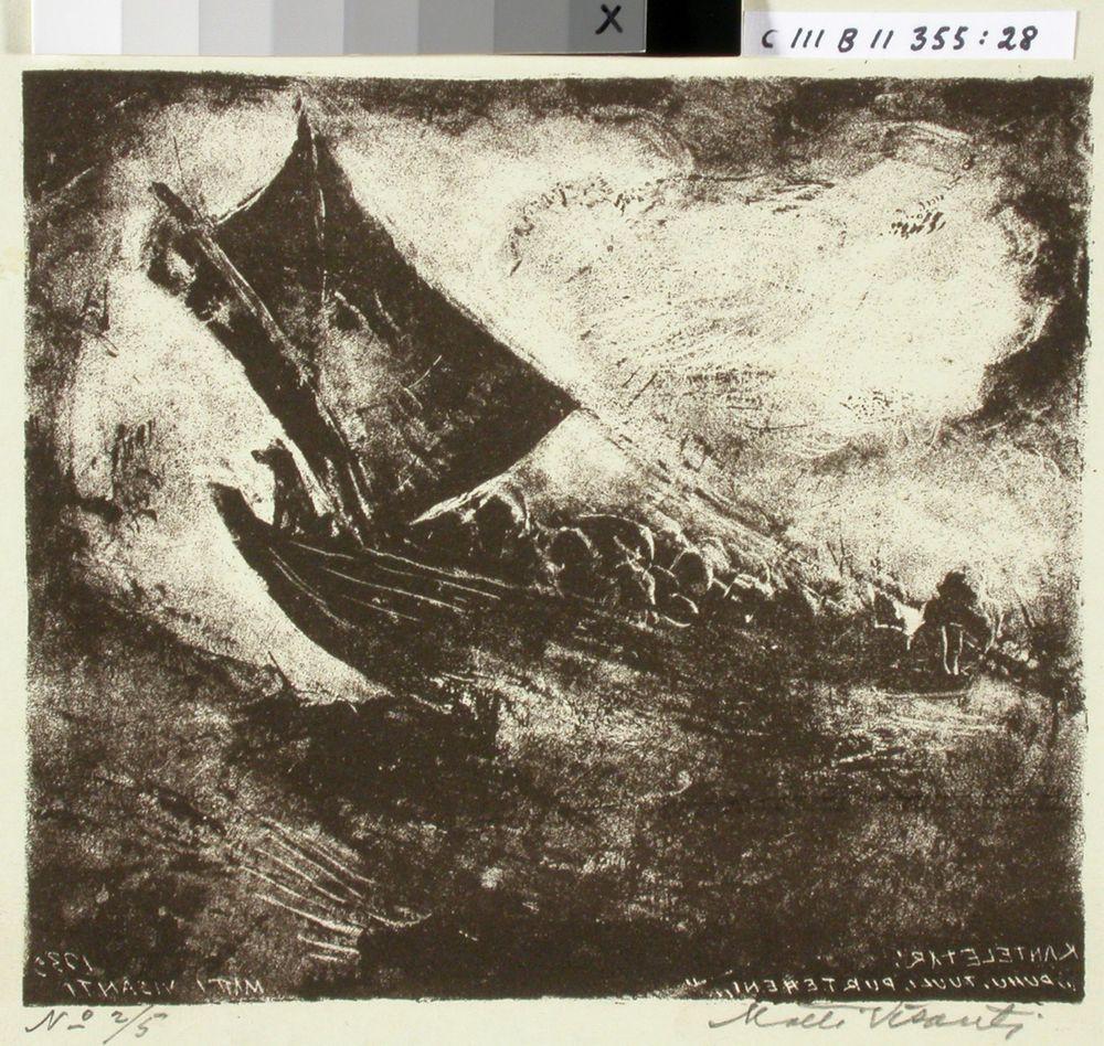 Kantelettaren kuvitusta (28) ; Puhu, tuuli, purteheni