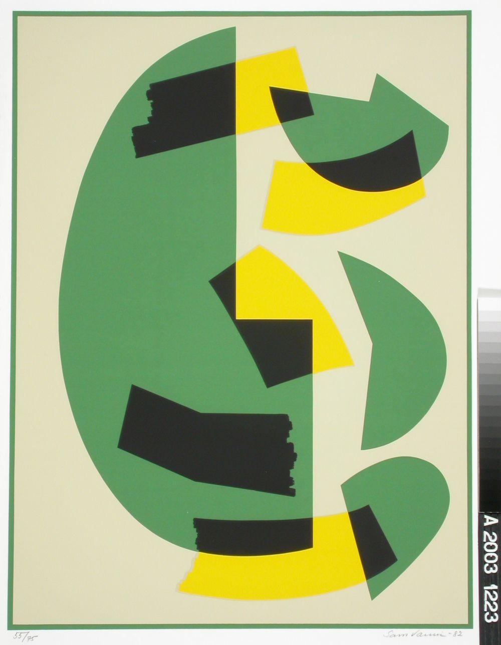 Vihreä-keltainen sarjasta 4-värin etydejä