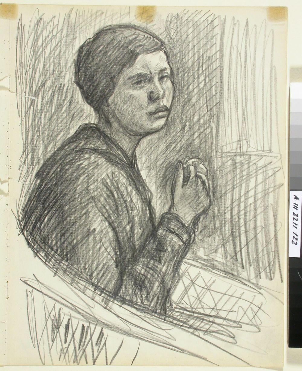 Korituolissa istuva nainen