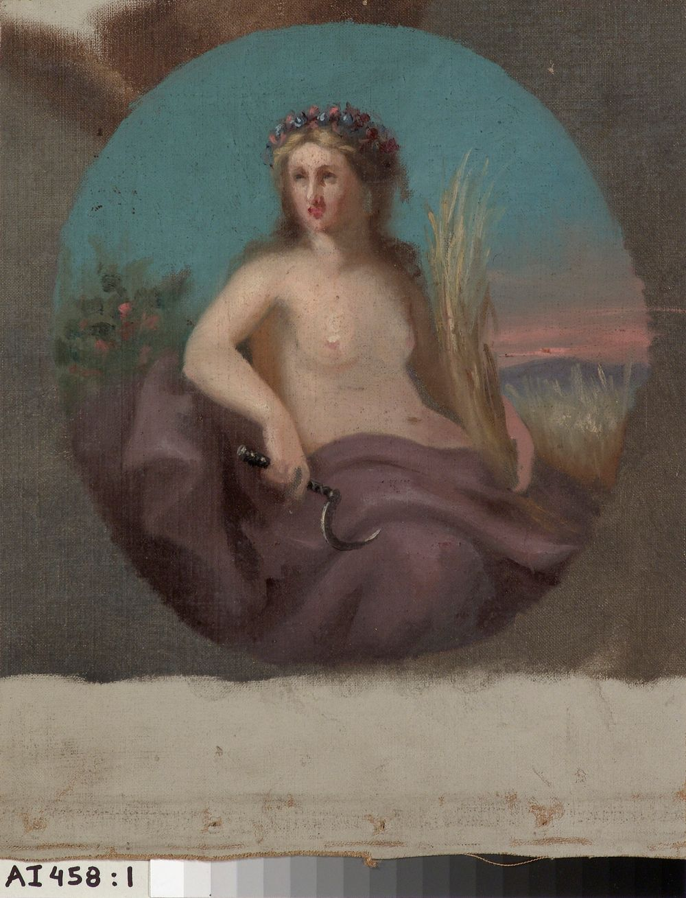 Elonkorjuun jumalatar Demeter