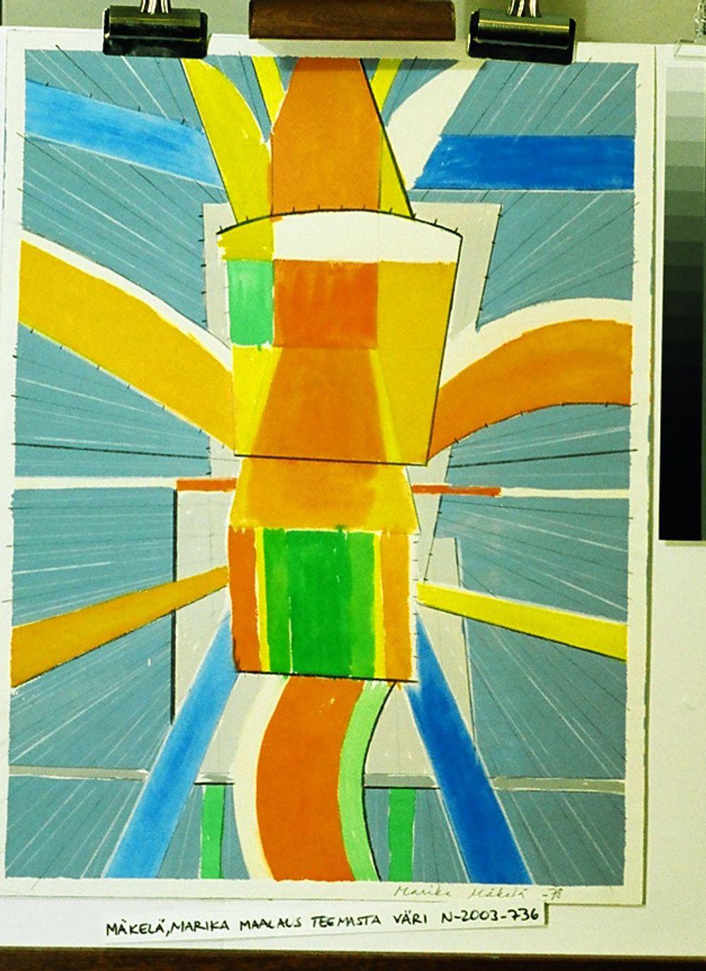 Maalaus teemasta väri