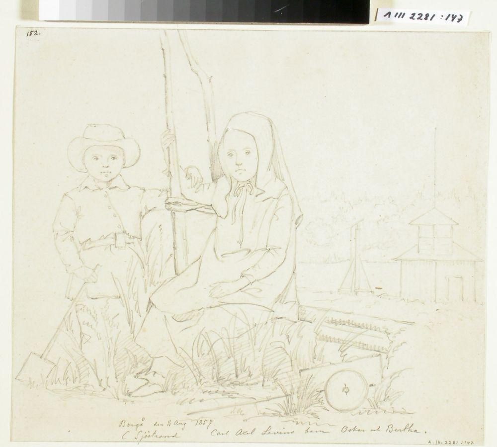 Carl Axel Levinin lapset Oskar ja Bertha