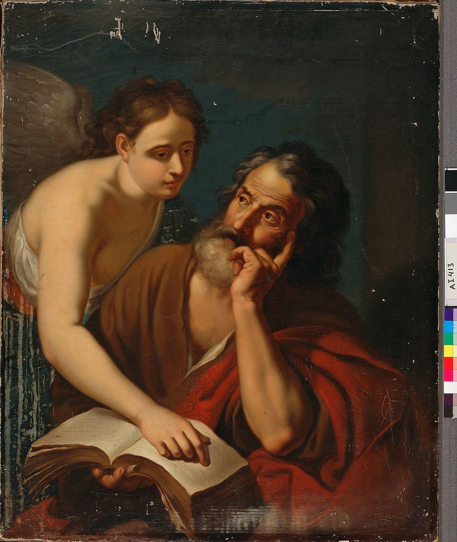 Evankelista Matteus enkelin kanssa