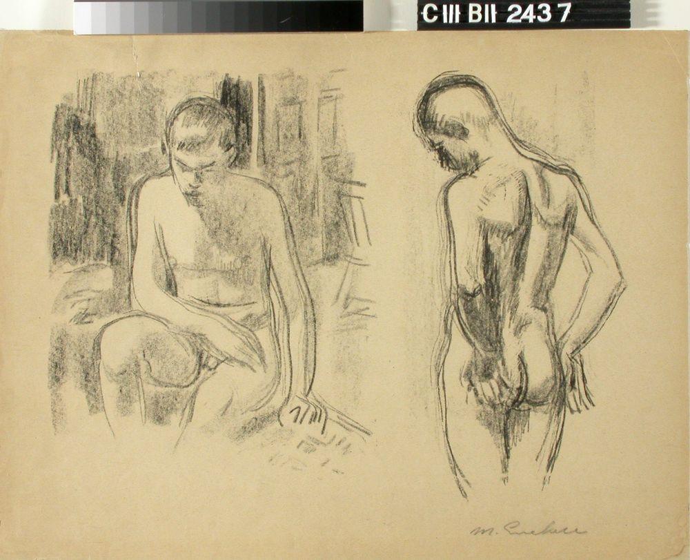 Istuva alaston poika / Istuva alaston