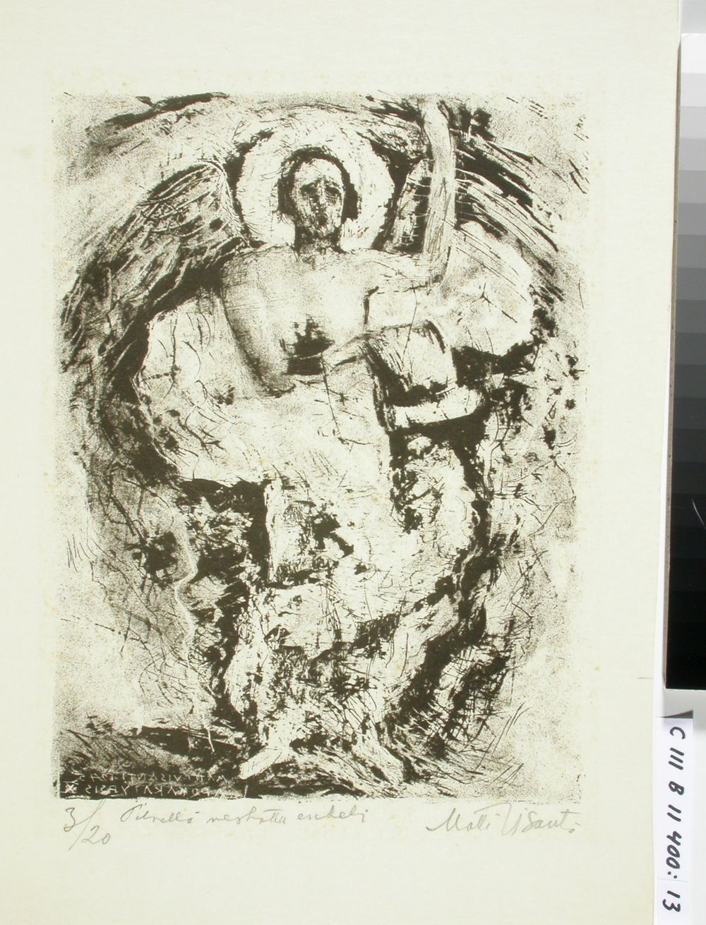 Ilmestyskirja ; Pilvellä verhottu enkeli (kuva 10)