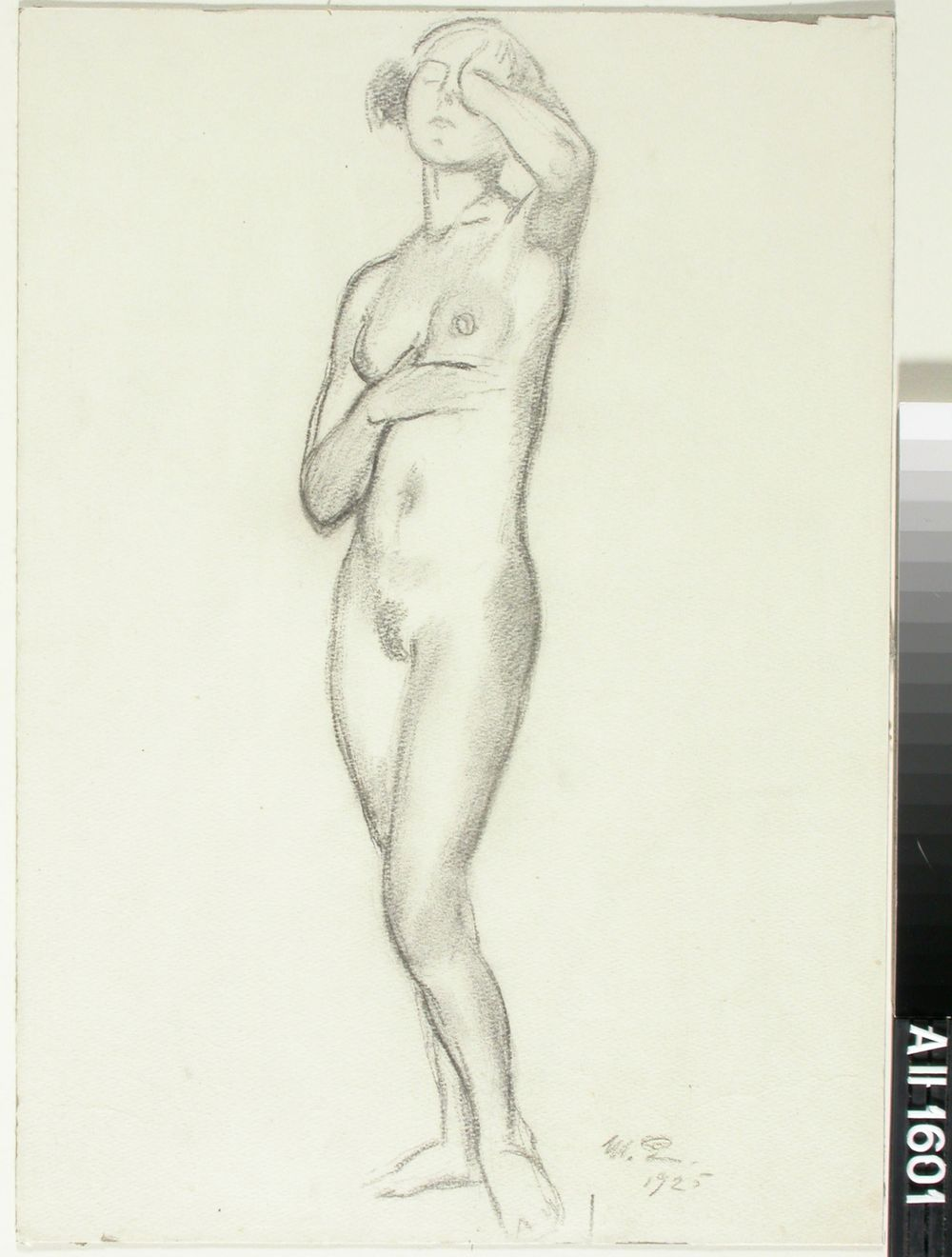 Harjoitelma alastomaan naisen kokovartalokuvaan