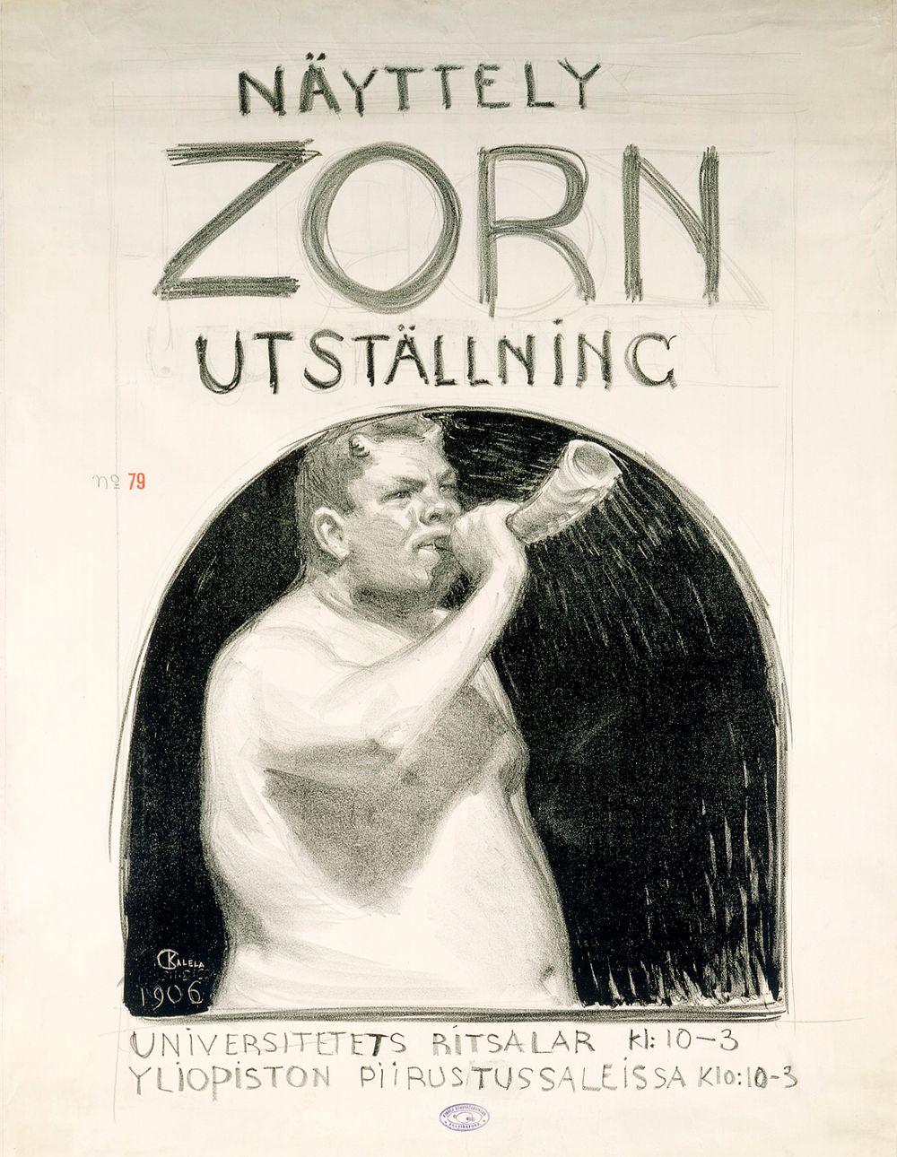Juliste Zornin näyttelyyn