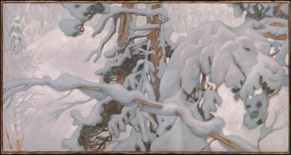 Talvi, esityö Juseliuksen mausoleumin freskoa varten