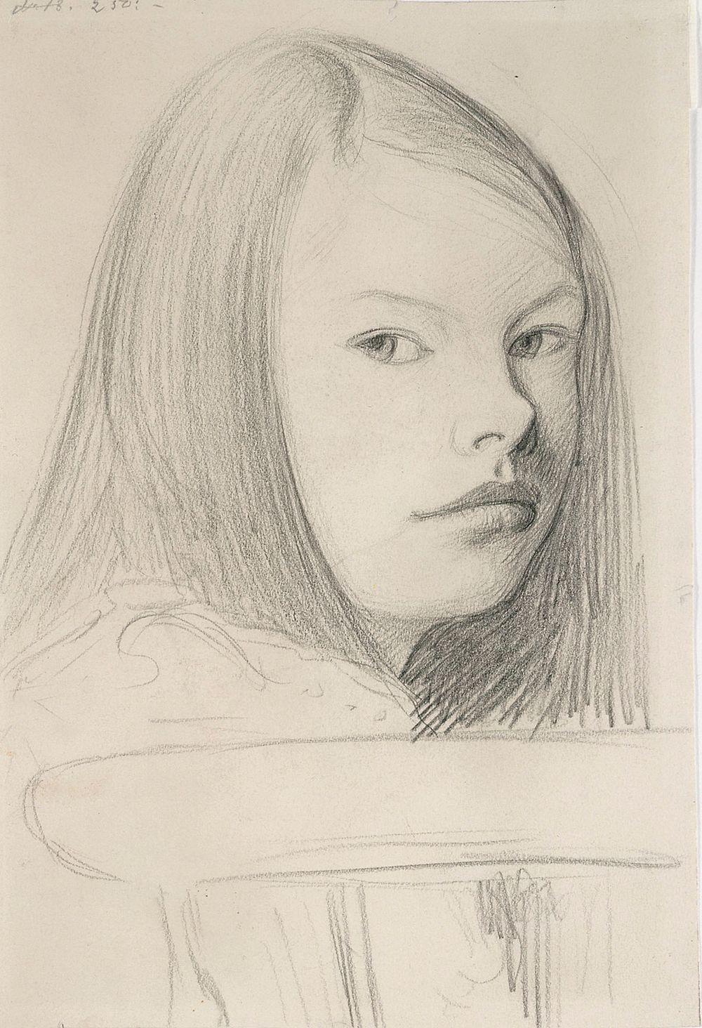 Tytön pää (Gertrud Gadd)