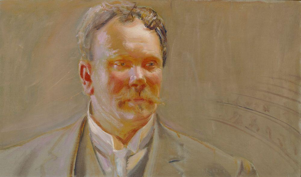 Professori E.N. Setälän muotokuva