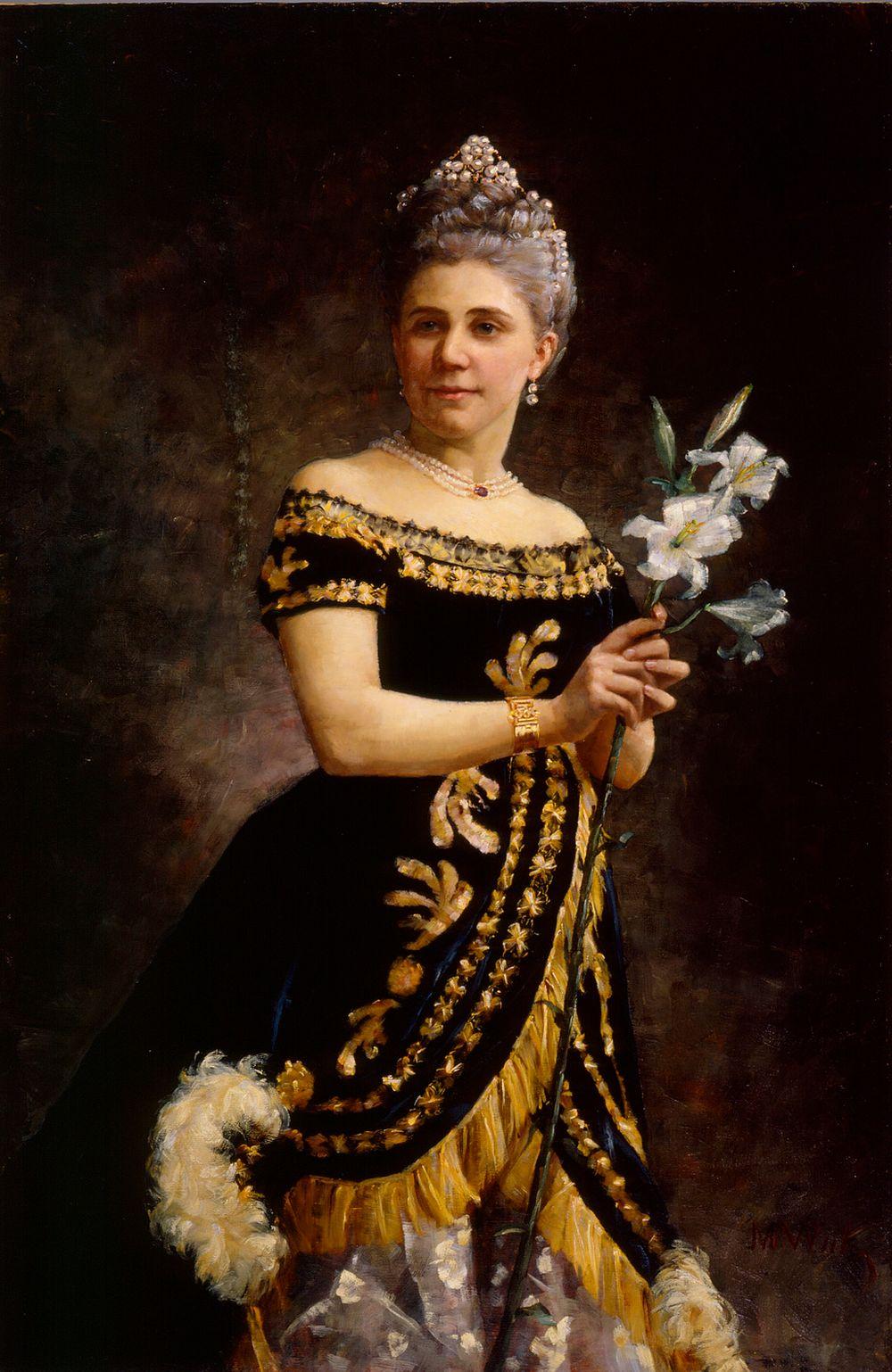 Oopperalaulajatar Ida Basilier-Magelsenin muotokuva Philinen osassa oopperassa Mignon