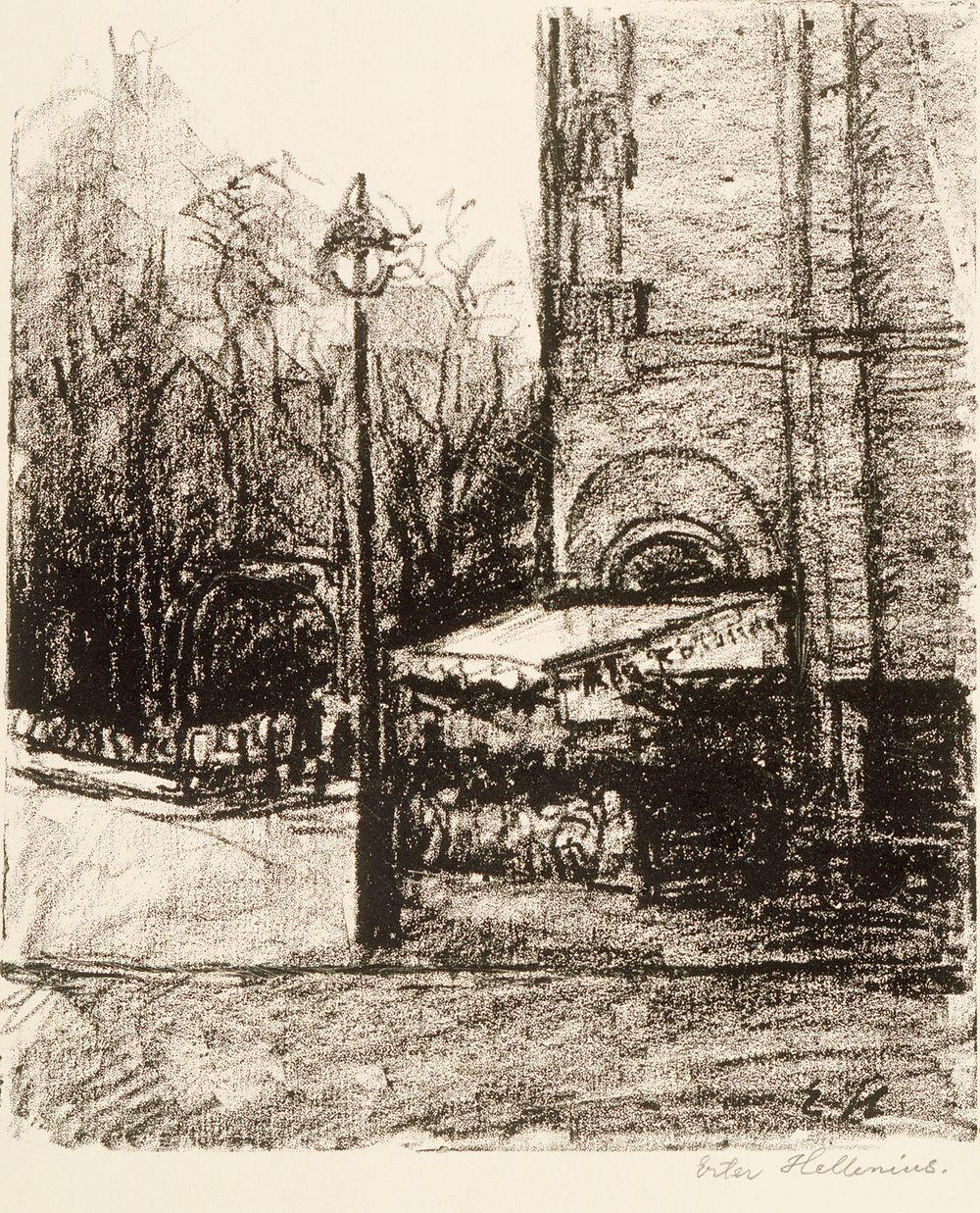 Rotonden kulmaus Boulevard Montparnassella