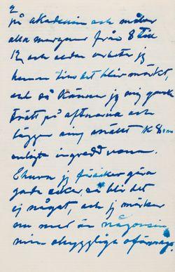 Hugo Simberg's letter to Blenda Simberg 6.1.1904