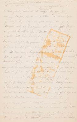 Hugo Simbergin kirje Paul Simbergille 1896