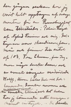 Hugo Simberg's letter to Niclas Eduard Simberg 7.2.1904