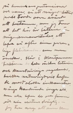 Hugo Simbergin kirje Mascha Hagelstamille 19.2.1904