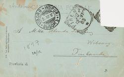 Hugo Simbergin kirje Blenda Simbergille 20.12.1897