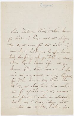 Anna Nordlanderin kirje Kerstin Cardonille s.a.