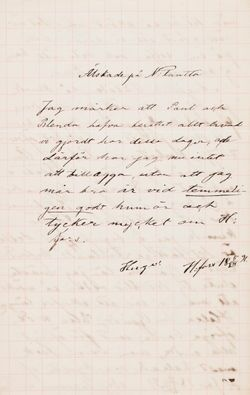 Hugo Simbergin kirje Ebba Mathilda Simbergille 4.-5.7.1891