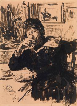 Taiteilijan tyttären Vera Repinan muotokuva (Naisen muotokuva)
