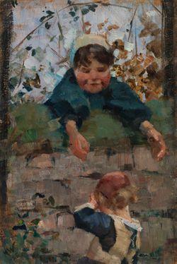 Jäähyväiset, luonnos maalaukseen Este