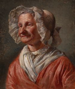 Old Woman in a White Bonnet ; A Smiling Old Woman