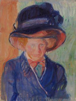 Nainen sinisessä (Helga Nordström)