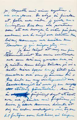 Hugo Simberg's letter to Elsa Simberg 7.12.1903
