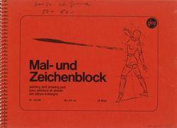 """Luonnoskirja (""""Mal- und Zeichenblock"""") 50- 60-"""