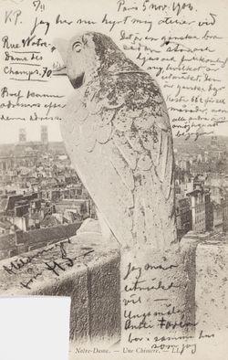 Hugo Simberg's letter to Niclas Eduard Simberg 5.11.1903
