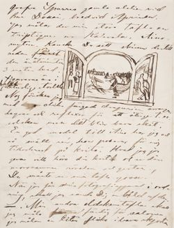 Akseli Gallen-Kallelan kirje Carl Dørnbergerille 22.1.1889