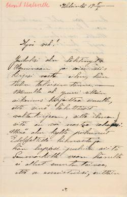 TKK/En282, Magnus Enckellin kirje Eemil Haloselle 5.1.1900