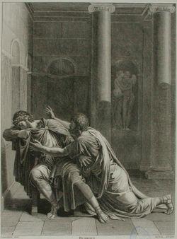 Kohtaus Racinen näytelmästä Britannicus