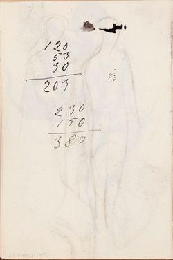 Luonnoskirja, noin 1903 - 1906