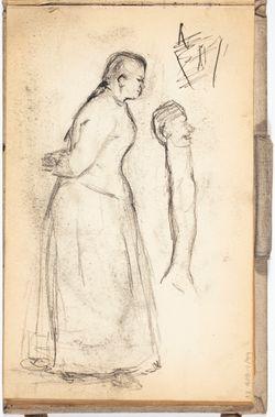 Luonnoskirja, noin 1889 - 1891