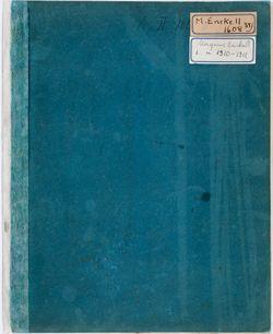Luonnoskirja, noin 1910 - 1911