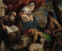 Neitsyt Maria, Jeesus-lapsi, Johannes Kastaja ja Pyhä Antonius Apotti
