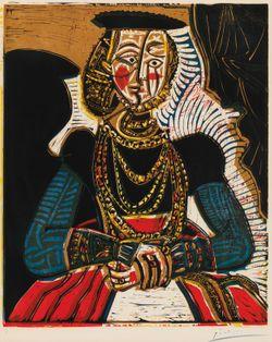 Bröstbild av kvinna efter Lucas Cranach d.y.