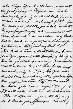 Osvald Sirénin kirje Paul Sinebrychoffille 8.2.1901