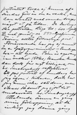 Osvald Sirénin kirje Paul Sinebeychoffille 26.2.1901