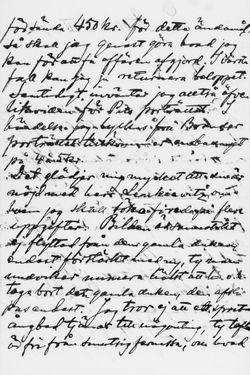 Osvald Sirénin kirje Paul Sinebrychoffille 1.7.1902