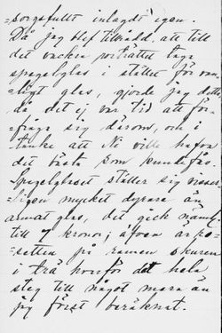 Fanny Hjelmin kirje Paul Sinebrychoffille 14.12.1901