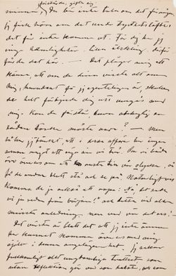 Hugo Simbergin kirje Anni Simbergille 4.7.1908