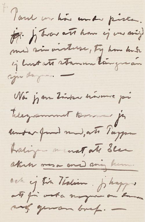 Hugo Simbergin kirje Niclas Eduard Simbergille 13.4.1904