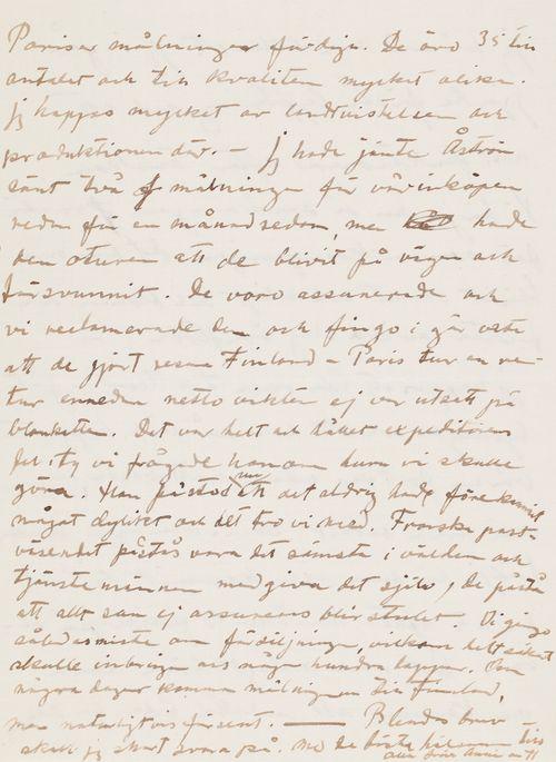 Hugo ja Anni Simbergin kirje Niclas Eduard Simbergille 1.6.1910