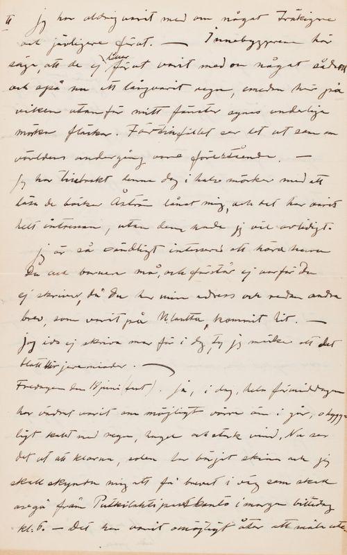 Hugo Simbergin kirje Anni Simbergille 13.6.1915