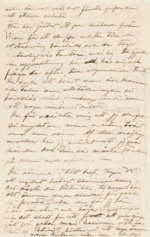 Hugo Simbergin kirje Blenda Simbergille 7.11.1901